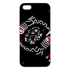 Abstract fishes iPhone 5S/ SE Premium Hardshell Case