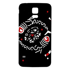 Abstract fishes Samsung Galaxy S5 Back Case (White)