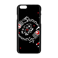Abstract fishes Apple iPhone 6/6S Black Enamel Case