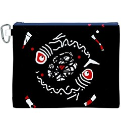 Abstract fishes Canvas Cosmetic Bag (XXXL)