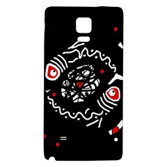 Abstract fishes Galaxy Note 4 Back Case