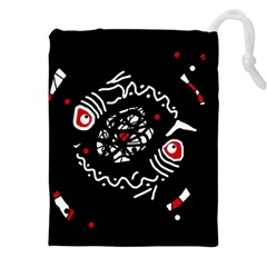 Abstract fishes Drawstring Pouches (XXL)