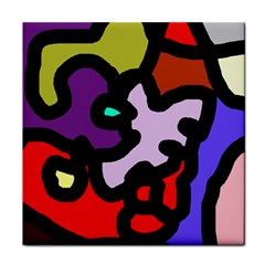 Colorful abstraction by Moma Tile Coasters