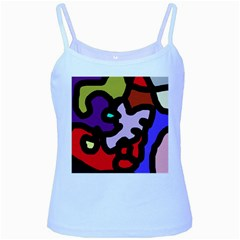 Colorful abstraction by Moma Baby Blue Spaghetti Tank