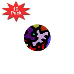 Colorful abstraction by Moma 1  Mini Magnet (10 pack)