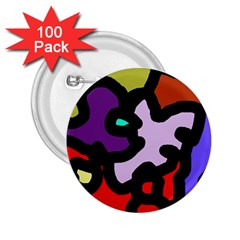 Colorful abstraction by Moma 2.25  Buttons (100 pack)