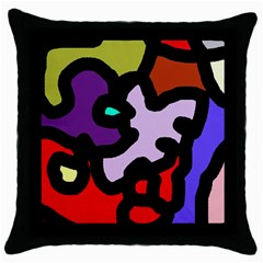 Colorful abstraction by Moma Throw Pillow Case (Black)