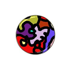 Colorful abstraction by Moma Hat Clip Ball Marker
