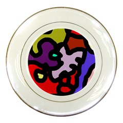 Colorful abstraction by Moma Porcelain Plates