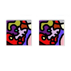 Colorful abstraction by Moma Cufflinks (Square)
