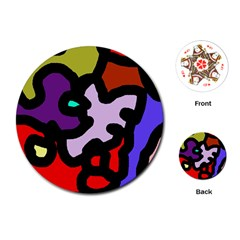 Colorful abstraction by Moma Playing Cards (Round)