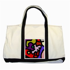 Colorful abstraction by Moma Two Tone Tote Bag