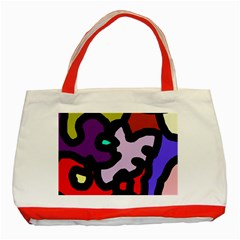 Colorful abstraction by Moma Classic Tote Bag (Red)