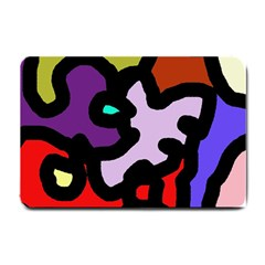 Colorful abstraction by Moma Small Doormat