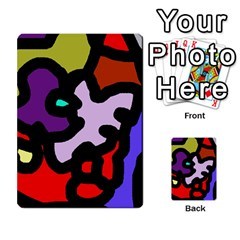 Colorful abstraction by Moma Multi-purpose Cards (Rectangle)