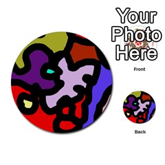 Colorful abstraction by Moma Multi-purpose Cards (Round)