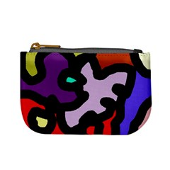 Colorful abstraction by Moma Mini Coin Purses