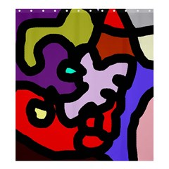 Colorful abstraction by Moma Shower Curtain 66  x 72  (Large)