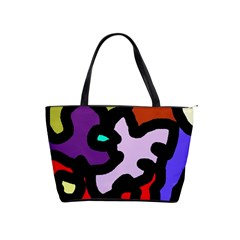 Colorful abstraction by Moma Shoulder Handbags