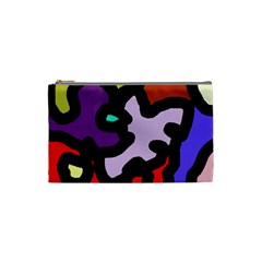 Colorful abstraction by Moma Cosmetic Bag (Small)