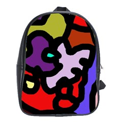 Colorful abstraction by Moma School Bags(Large)