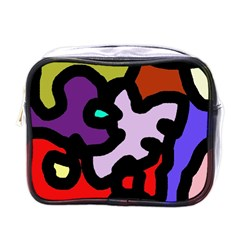 Colorful abstraction by Moma Mini Toiletries Bags