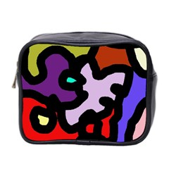 Colorful abstraction by Moma Mini Toiletries Bag 2-Side