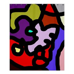 Colorful abstraction by Moma Shower Curtain 60  x 72  (Medium)