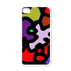 Colorful abstraction by Moma Apple iPhone 4 Case (White)