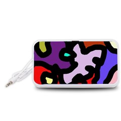 Colorful abstraction by Moma Portable Speaker (White)