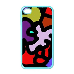 Colorful abstraction by Moma Apple iPhone 4 Case (Color)