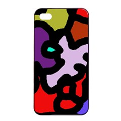 Colorful abstraction by Moma Apple iPhone 4/4s Seamless Case (Black)