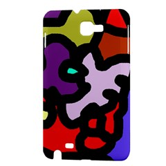 Colorful abstraction by Moma Samsung Galaxy Note 1 Hardshell Case