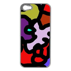 Colorful abstraction by Moma Apple iPhone 5 Case (Silver)