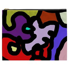 Colorful abstraction by Moma Cosmetic Bag (XXXL)
