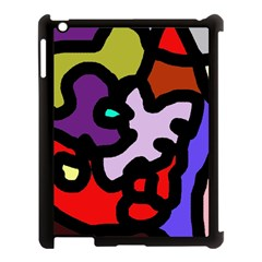 Colorful abstraction by Moma Apple iPad 3/4 Case (Black)