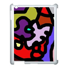 Colorful abstraction by Moma Apple iPad 3/4 Case (White)