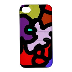 Colorful abstraction by Moma Apple iPhone 4/4S Hardshell Case with Stand