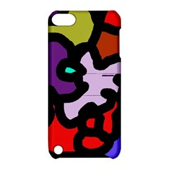 Colorful abstraction by Moma Apple iPod Touch 5 Hardshell Case with Stand