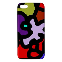 Colorful abstraction by Moma Apple iPhone 5 Premium Hardshell Case