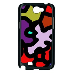 Colorful abstraction by Moma Samsung Galaxy Note 2 Case (Black)