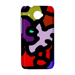 Colorful abstraction by Moma HTC Desire 601 Hardshell Case