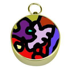 Colorful abstraction by Moma Gold Compasses