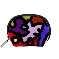 Colorful abstraction by Moma Accessory Pouches (Small)