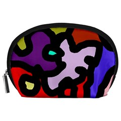 Colorful abstraction by Moma Accessory Pouches (Large)