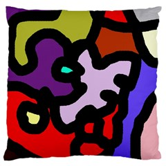 Colorful abstraction by Moma Large Flano Cushion Case (Two Sides)