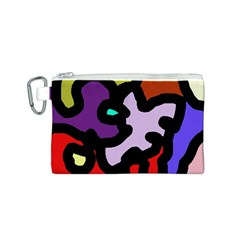 Colorful abstraction by Moma Canvas Cosmetic Bag (S)