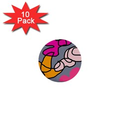 Colorful abstract design by Moma 1  Mini Buttons (10 pack)