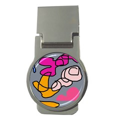 Colorful abstract design by Moma Money Clips (Round)
