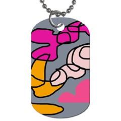 Colorful abstract design by Moma Dog Tag (One Side)